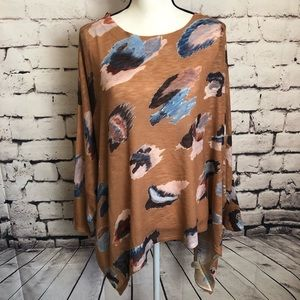 Nally &Milly Watercolor Swing Tunic Top One Size